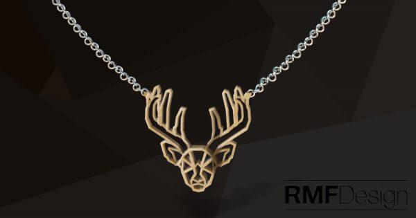 3D printed Deer necklace