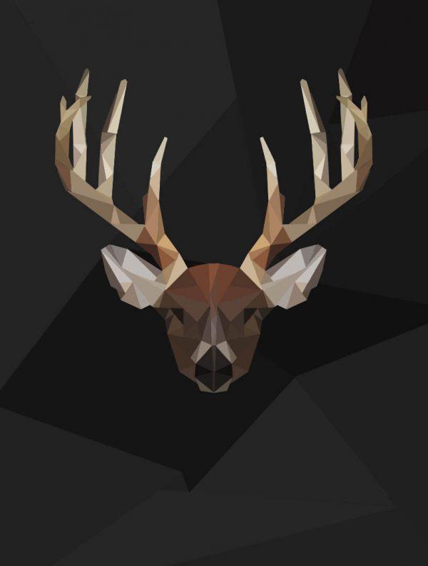 Polygon Art Deer